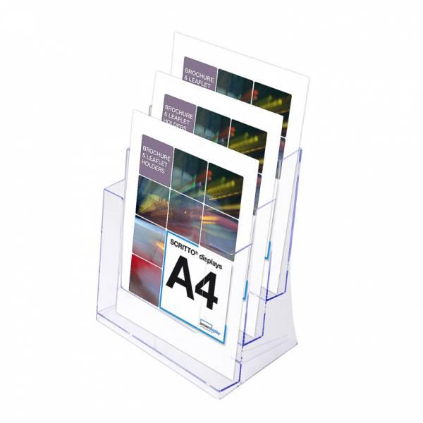 SCRITTO Stojánek na letáky formátu A4, 3 kapsy