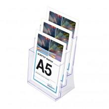 SCRITTO Stojánek na letáky formátu A5, 3 kapsy