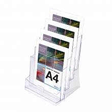 SCRITTO Stojánek na letáky formátu A4, 4kapsy