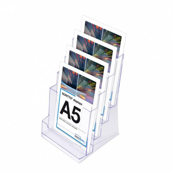 SCRITTO Stojánek na letáky formátu A5, 4 kapsy