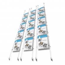 Lankový systém s pěti kapsami na plakáty A4 APPENDO E-Clip