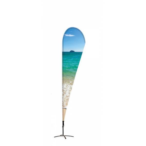 Beachflag Alu Drop 235cm Total Height Luxurious Ba