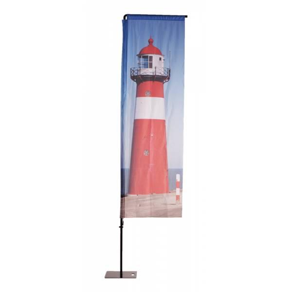 Vlajka s hliníkovou konstrukcí obdélníková typ ALU