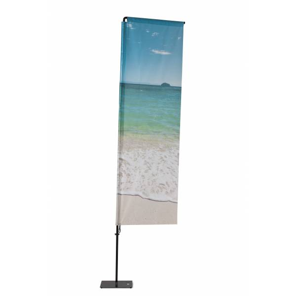 Beachflag Alu Square 350cm Total Height