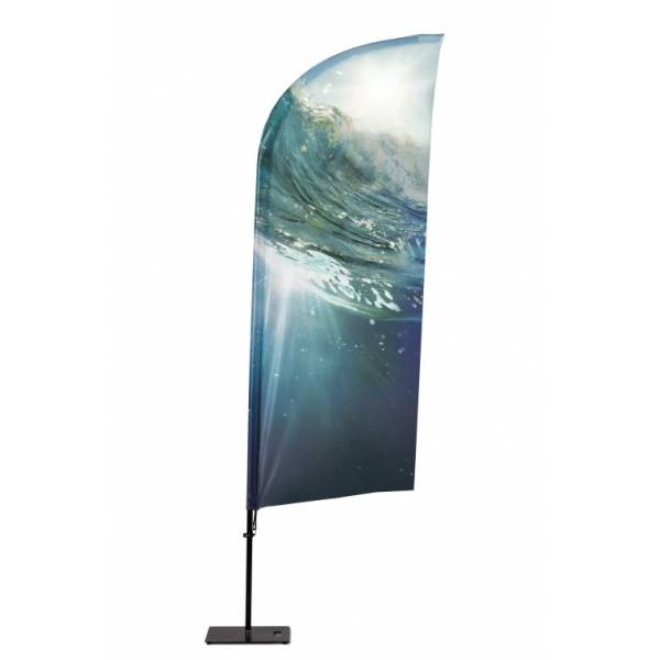 Hliníková vlajka v tvaru Křídlo