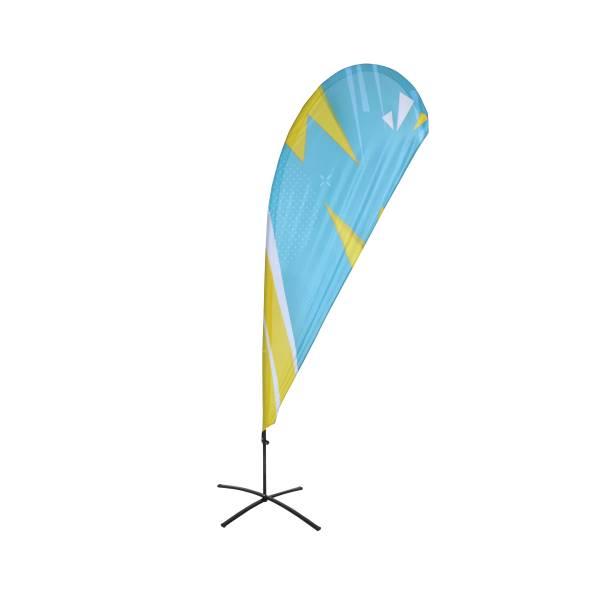 Tisk k reklamní ekonomické vlajce, tvar kapka