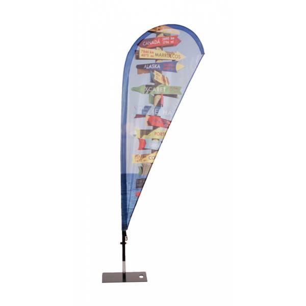 Vlajka Fiber Wind and Drop, konstrukce se sklolaminátovým prutem, Kapka / Křídlo