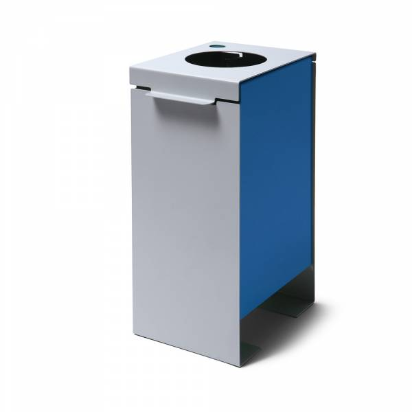 Koš na tříděný odpad plechový, modrý