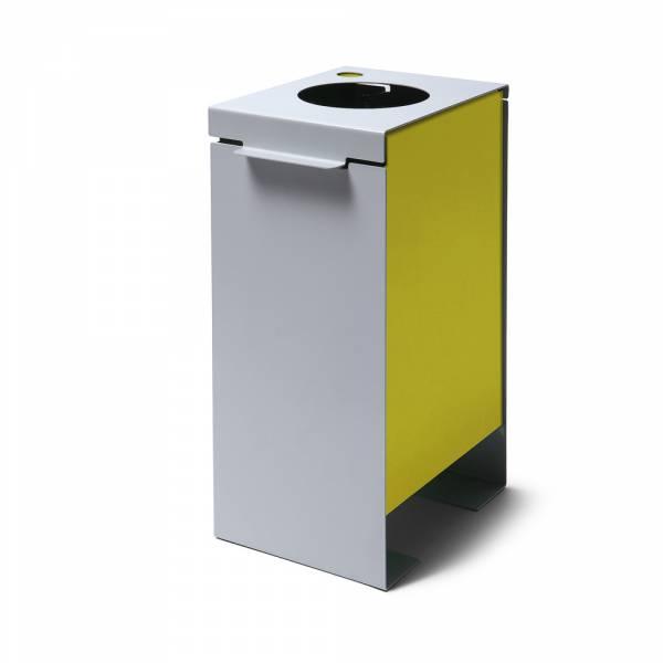 Koš na tříděný odpad polechový, žlutý
