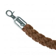 Bronzový provaz na barierový sloupek, chromové koncovky
