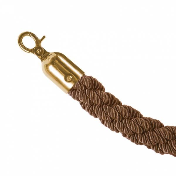 Bronzový provaz na barierový sloupek, zlaté koncovky