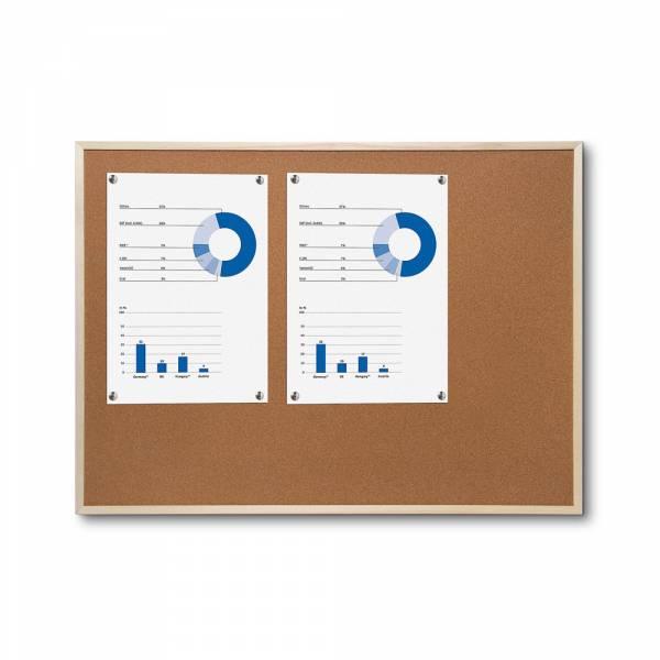 Korková tabule s dřevěným rámem, 450x600mm