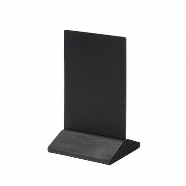 Dřevěný menu stojánek ekonomický černý, 100 mm