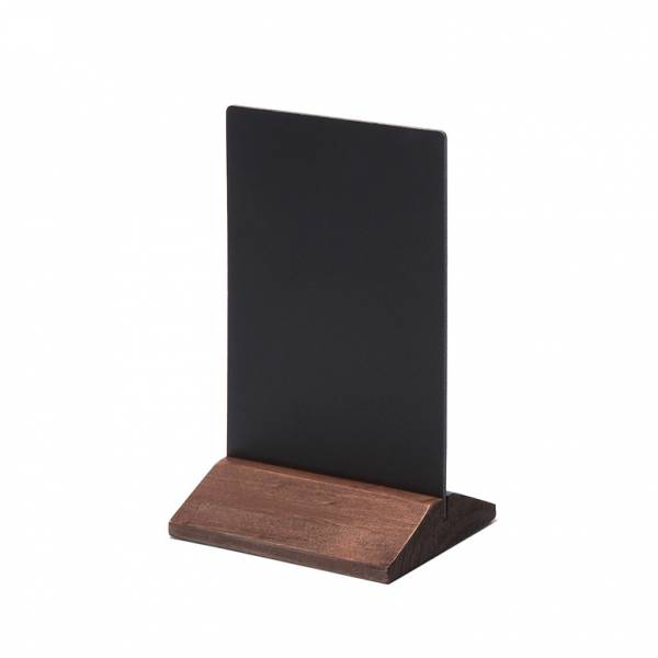 Dřevěný menu stojánek ekonomický tmavě hnědý, 100 mm