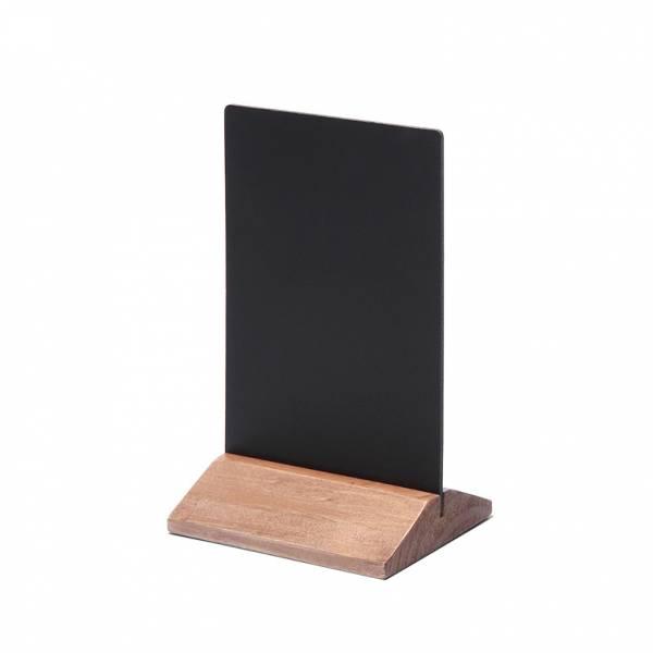 Dřevěný menu stojánek ekonomický světle hnědý, 100 mm