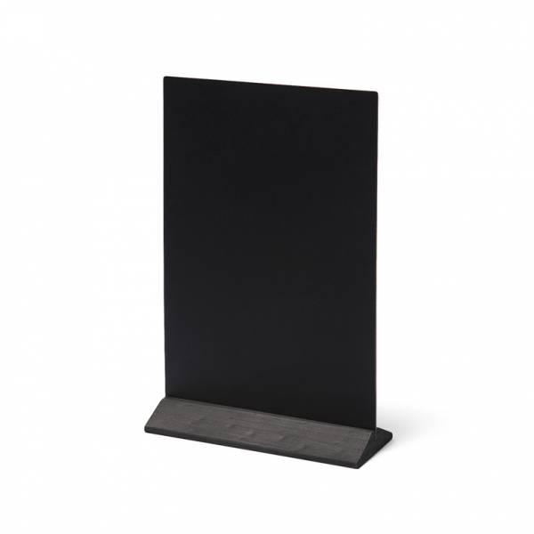 Dřevěný menu stojánek ekonomický černý, 210 mm