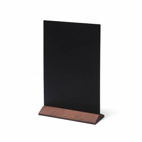 Dřevěný menu stojánek ekonomický tmavě hnědý, 210 mm