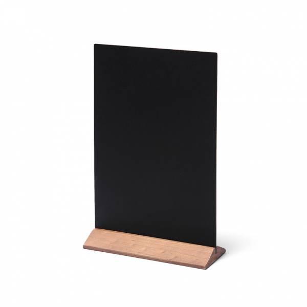 Dřevěný menu stojánek ekonomický světle hnědý, 210 mm