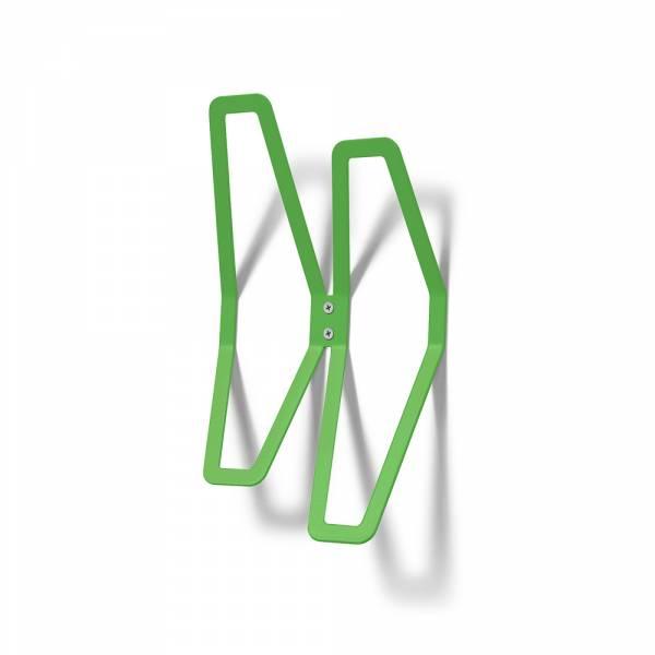 Nástěnný designový věšák dvojitý, zelený