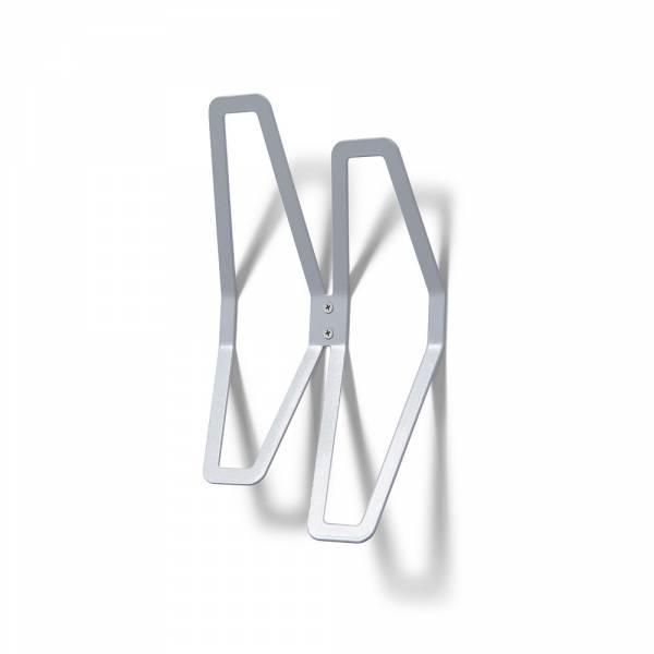 Nástěnný designový věšák dvojitý, šedý
