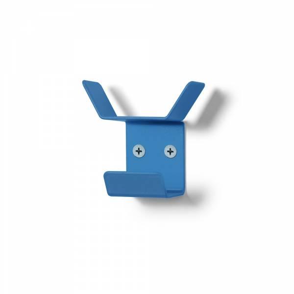 Nástěnný věšák mini, trojitý, modrý