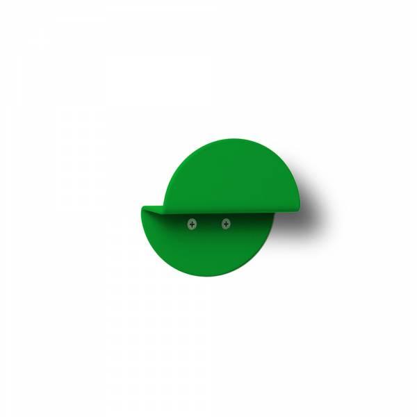 Nástěnný kulatý věšák, zelený
