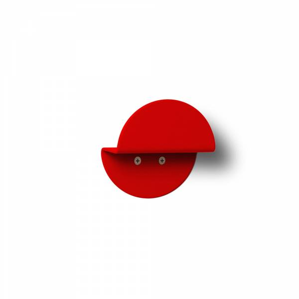 Nástěnný kulatý věšák, červený