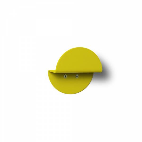 Nástěnný kulatý věšák, žlutý