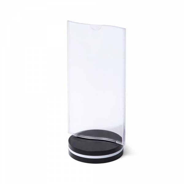 SCRITTO Plastový menu stojánek 10x20cm, s prohybem