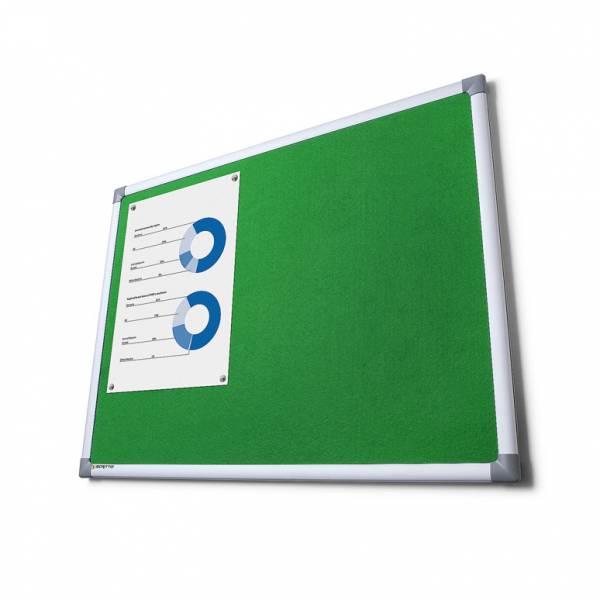 Textilní tabule SCRITTO, zelená, 600x900mm