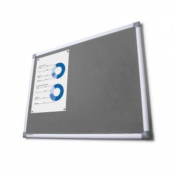 Textilní tabule SCRITTO, šedivá, 1000x2000mm