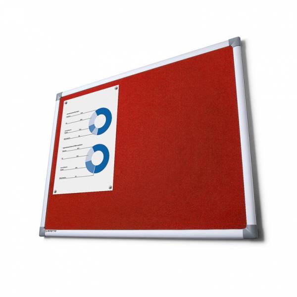 Textilní tabule SCRITTO, červená, 600x900mm