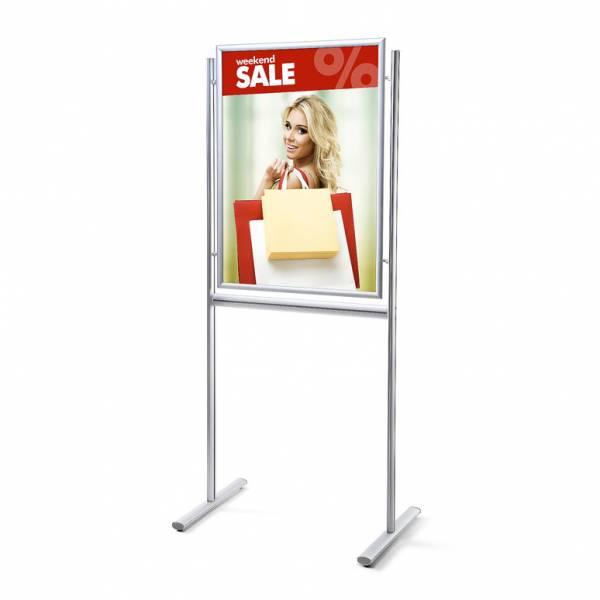 Informační stojan infoboard s klaprámem 700x1000mm, ostrý roh, profil 25mm