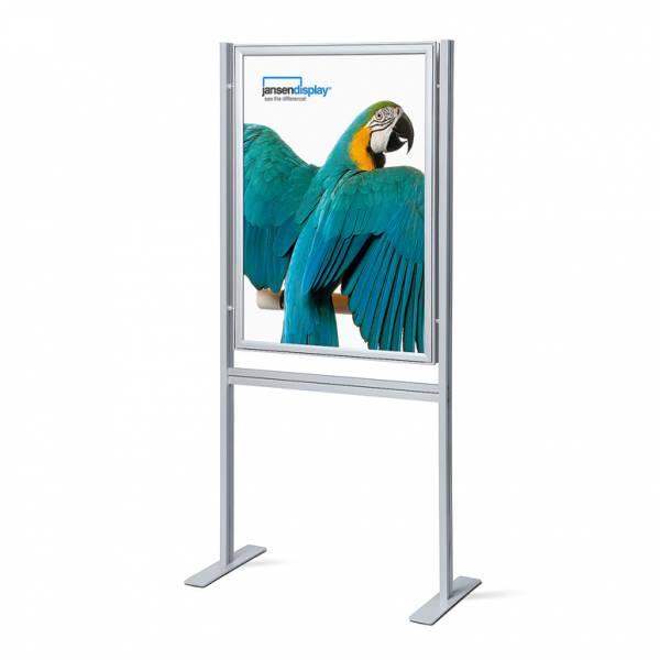Infoboard s klaprámem 700x1000mm, ostrý roh, profil 37mm, oboustranný