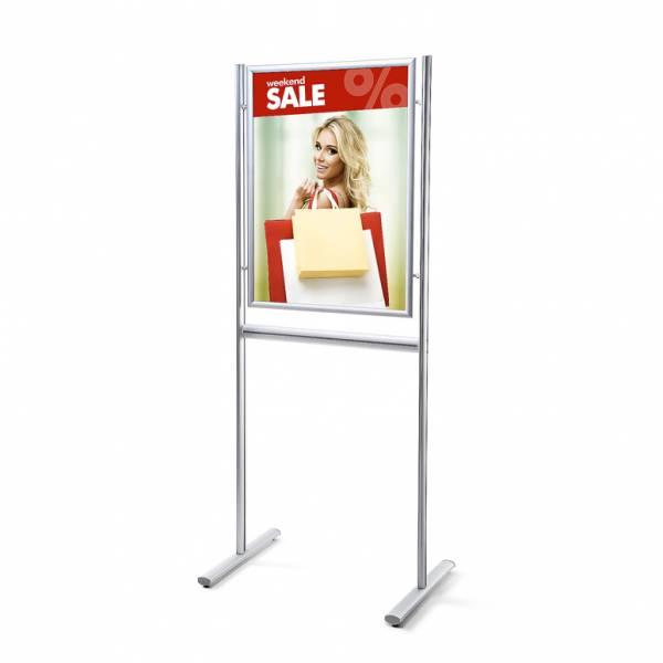 Informační stojan infoboard s klaprámem A1, ostrý roh, profil 25mm