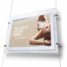 Světelný LED plakátový lankový panel