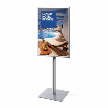 Informační stojan infopole s klaprámem 700x1000mm, ostrý roh, profil 25mm