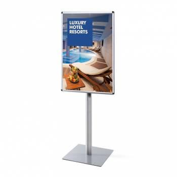 Informační stojan infopole s klaprámem 700x1000mm, oblý roh, profil 25mm