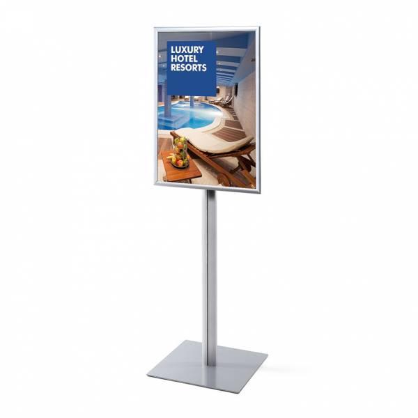Informační stojan infopole s klaprámem A1, ostrý roh, profil 25mm