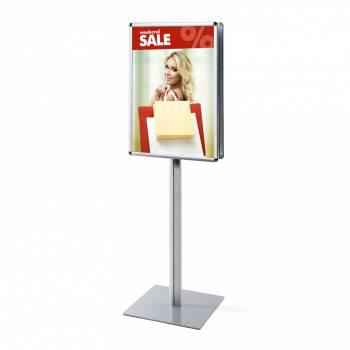 Oboustranný informační stojan infopole s klaprámy A1, oblý roh, profil 25mm