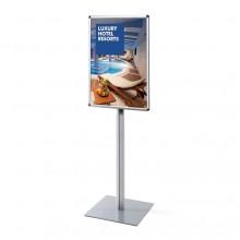 Informační stojan infopole s klaprámem A1, oblý roh, profil 25mm