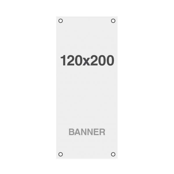 Ekonomický bannerový tisk Symbio 510g/m2, 1200x2000mm, všitá oka