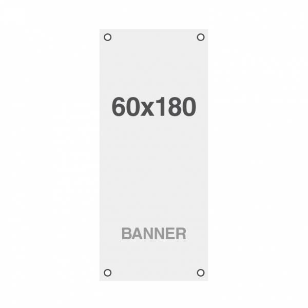 Prémiový bannerový tisk No Curl 220g/m2, matný povrch, 60x180cm, všitá oka