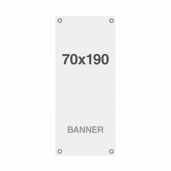 Ekonomický bannerový tisk Symbio 510g/m2, 700x1900mm, všitá oka