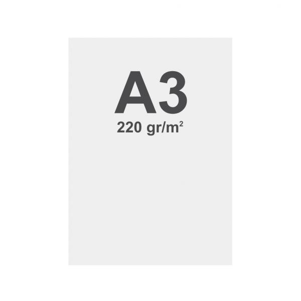 Prémiový bannerový na vícevrstvý materiál 220g/m2,matný povrch media A3 matt, 220 g m2