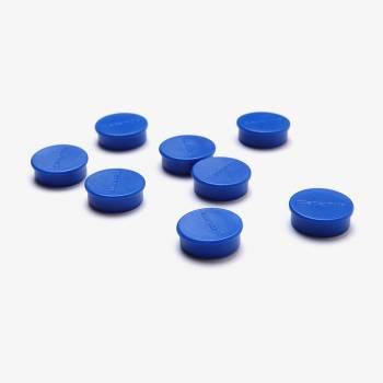 Set magnetů průměr 20 mm, 8 ks, modré