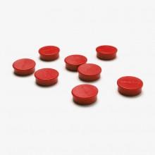 Set magnetů průměr 20 mm, 8 ks, červené