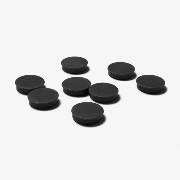 Set magnetů průměr 35 mm, 8 ks, černé