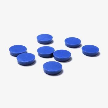 Set magnetů průměr 35 mm, 8 ks, modré