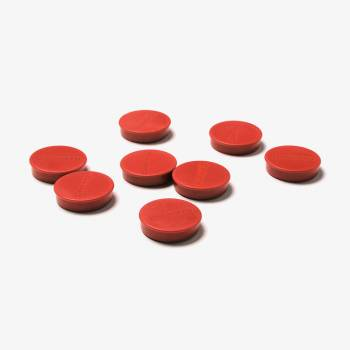 Set magnetů průměr  35 mm, 8 ks, červené